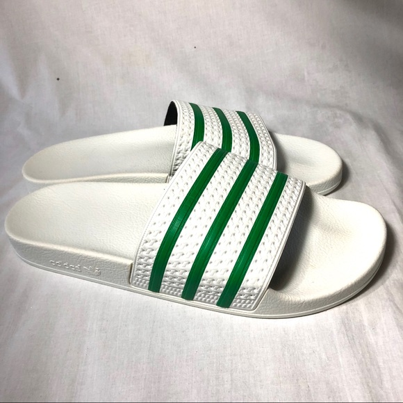 4dbb2d334fe adidas Other - Adidas adilette Slides size 13 white green